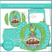 Dragon Birthday Double Pop Out Card