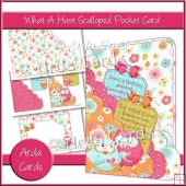 What A Hoot Scalloped Pocket Card