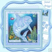 ZEN DOLPHIN 8x8 Decoupage & Insert Mini Kit