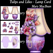 Tulips and Lilies - Lamp Card