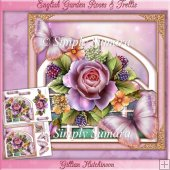 English Garden Roses & Trellis Mini Kit