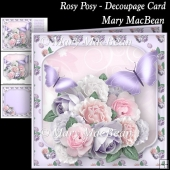 Rosy Posy - Decoupage Card