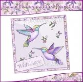 Purple Humming Bird Easel Card