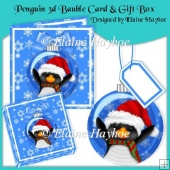 Penguin 3d Bauble with Card & Gift Box