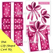 Pink Giftbox Shaped Card Kit