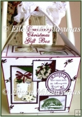 Cranberry Christmas Large Handled Gift Box with Directions