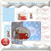 Reindeer Mug Fold Back Card