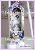 Vintage French Corset Advertising Luminary