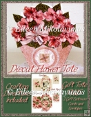 Diecut Flower Gift Box Tote and Enclosure Cards