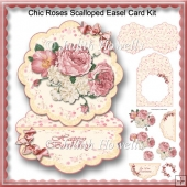 Chic Roses Scalloped Easel Card Kit