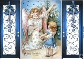 Pretty Christmas Angel with christmas tree Gatefold