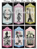 Flea Market Paris Chic Tag Set
