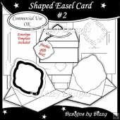 Shaped Easel Card #2 Template + Freebie Gift Box