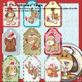 9 Tags On One Sheet-Christmas-Dogs1