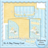 It's A Boy Money Card