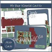 Mr Bear Waterfall Card Kit