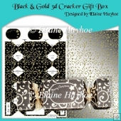 Black & Gold 3d Cracker Gift Box