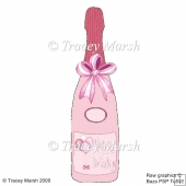 Pink Birthday Balloons Bottle Card Set