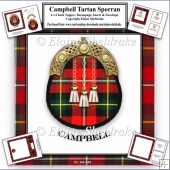 Campbell Tartan Sporran Card Kit