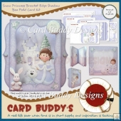 Snow Princess Bracket Edge Shadow Box Fold Card Kit