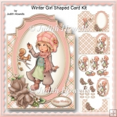 Winter Girl Shaped Card Kit