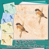 My Chickadee 12x12 Scrapbooking Papers