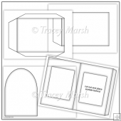 Commercial Use Square Aperture Pillow Card Template Set
