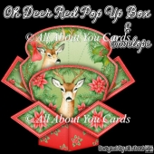 Oh Deer Red Pop Up Box Card & Envelope