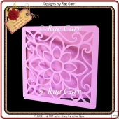811 Fancy Flower Front & Topper *Multiple MACHINE Formats*
