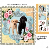 Labs With Pink Roses Mini Kit