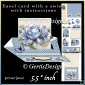 Easel Card With A Swing blue
