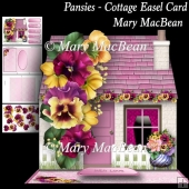 Pansies - Cottage Easel Card