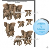Wild Elephants Decoupage Sheet
