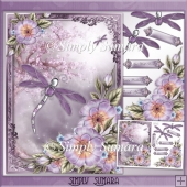 Lilac Dragonfly Card Front