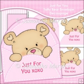 Just For You XOXO Tatty Bear Envelope Decoupage