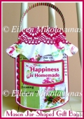 Mason Jar Shaped Gift Bag with Directions