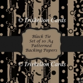 Black Tie A4 Scrapbooking & Backing Papers