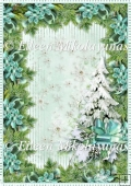 Sparkling Snowflakes Backing Background Paper