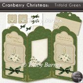 Cranberry Christmas Trifold Green