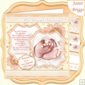 BABY TOES & VERSE Lemon New Baby 7.5 Decoupage & Insert Kit