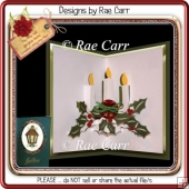 002 3 Christmas Candles Insert *Multiple MACHINE Formats*