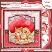TOGETHER BEARS 7.5 Decoupage & Insert Kit Various Occasions