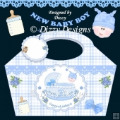 Rock A Bye Baby Boy Gift Basket and Tag