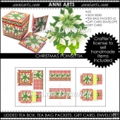 Christmas Poinsettia Tea Box Gift Set