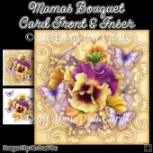 Mamas Bouquet 8x8 Fancy Card Front