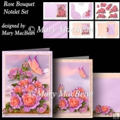Rose Bouquet - Notelet Set