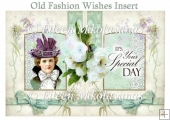 Old Fashion Wishes Card Insert