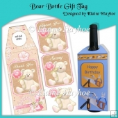 Bear Bottle Gift Tag