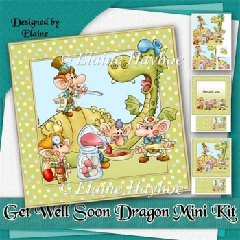 Get Well Soon Dragon Card Kit