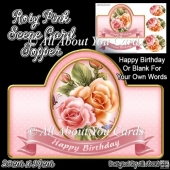 Rosy Pink Card Topper